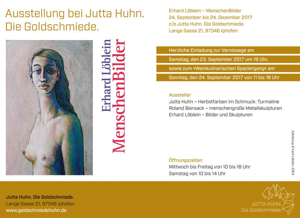 Einladung zur Vernissage Löblein/Biersack/Huhn - Goldschmiede Huhn Iphofen