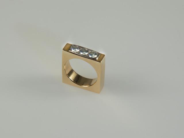 Umarbeitung Ring aus 750er Gelbgold mit Brillanten